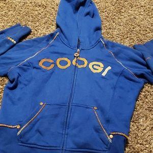 Coogi zip up hoodie